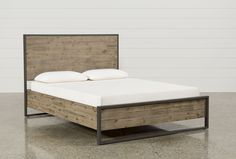 """Whistler California King Platform Bed from Living Spaces Furniture (a subsidiary of Roguewood Furniture -that makes furniture for Pottery Barn, Ana Furniture & others). Available to purchase through House of Values Dimensions: 77""""W x 89""""D x 47.2""""H SKU#: 94733"""