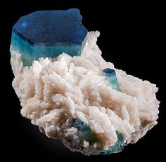 Tourmaline var. Indicolite with Albite from Afghanistan.