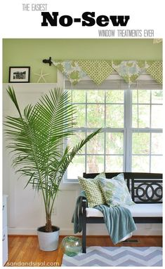 The Easiest No-Sew Window Treatments Ever! I like the panel.
