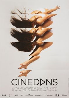 I like how this poster shows movement even though its made out of one photograph repeated several times