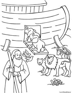 Noah And Ark Coloring Pages Noahs Page
