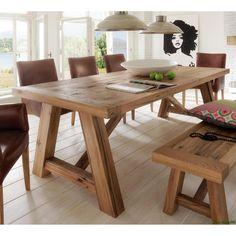 Balken Tisch holz
