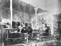مقهى ملا حمادي في المربعة من محلات شارع الرشيد عام 1906