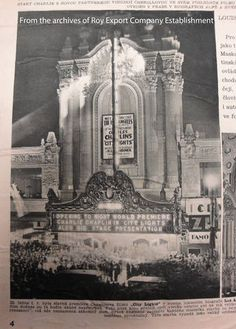 Press clipping, City Lights premiere at the Los Angeles Theatre