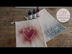 DIY: Canvas pouches with textile spray paint by Søstrene Grene - YouTube