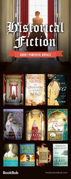10 historical fiction books about royals. Including novels set in England, based on true stories, and spanning world wars.