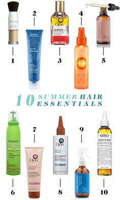 Our 10 Summer Hair Essentials