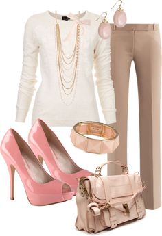 Lovely outfit for work. Professional, yet feminine. #DressForSuccess #Interviews #Careers