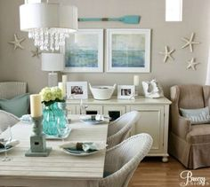 Beige and Aqua Color Scheme to Create a Calm Beach Ambiance: http://www.completely-coastal.com/2016/02/beige-aqua-beach-decor.html