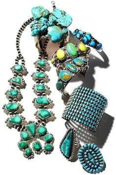 Turquoise jewelry.    I crazy about Turquoise Today...;)