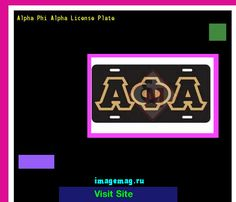 Alpha phi alpha license plate 184330 - The Best Image Search