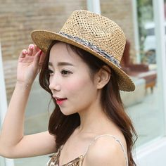 Fashion fringe panama hat for women UV tassel straw sun hats