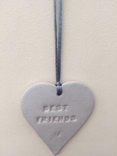 SALE- Loveheart hanger, ceramic lovehearts, gift idea, home decor, pottery £5.00
