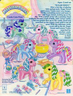 My Little Pony Candy Cane Pony Backcard
