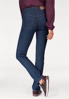 """Cheer High-waist-Jeans »""""Carmen""""«, auch in Extra-Kurz Größe ab 29,99€. Damenjeans mit hoher Leibhöhe, Doppelbund mit sichtbarem Knopfverschluss bei OTTO"""