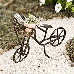 $6.50 www.morelandcreations.com bicycles, fairies, miniatur garden, fairi garden, faeri garden, garden accessories, garden bike, mini gardens, fairi bike