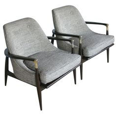 Lounge Chairs attributed to Ib Kofod Larsen but doubtful... Fabulous chairs though, no?