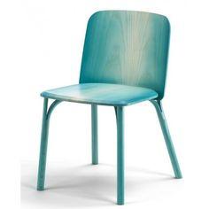 silla madera Split turquesa   Tiendas On