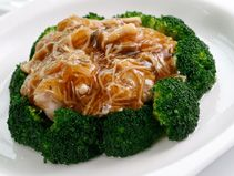Mushrooms with Dried Scallop Sauce