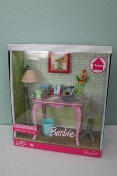 RARE Discontinued Barbie Desk Chair Bedroom Playset 2007 | eBay