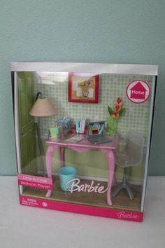RARE Discontinued Barbie Desk Chair Bedroom Playset 2007 | eBay