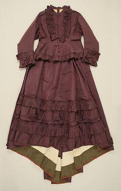 1870 Afternoon Dress Culture: French Medium: silk