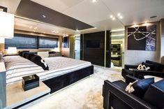 Luxury Yacht Interior Design: Plush Bedroom