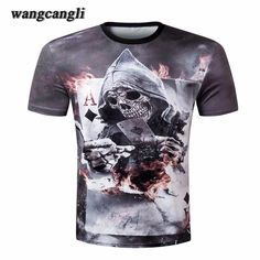 2017 t shirt deadpool men MMA Workout skull t shirt poker Print Short Sleeve funny 3D t.                                                                                                         Product Features             Edition type: sports T-shirt shirt             Fabric:Functional polyester fiber             Elastic index:High elasticity             Thickness index:Moderate             Features:Quick-drying, sports breathable, perspiration             Please…