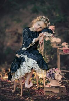 Vintage Inspired by Irina Chernousova - Photo 203862019 / Beautiful Children, Beautiful Babies, Precious Children, Little Girl Dresses, Girls Dresses, Flower Girl Dresses, Cute Kids Photography, Fashion Photography, Classic Photography