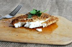 Sesame Seed Crusted Snapper is a quick weeknight meal that brings together red snapper and sesame seeds for a crispy, flavorful fish dish! Healthy Living Recipes, Paleo Recipes, Salsa Verde, Paleo Peach Cobbler, Cilantro, Fed And Fit, Crusted Tilapia, Quick Weeknight Meals, Seafood