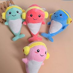 Amazon.com: Cartoon Animal Plush Stuffed Doll Cute Panda Puppy Emoji Dolphin Random Color 1 Pc: Toys & Games