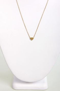 Tiny Heart's Club Gold Heart Necklace at LuLus.com! #lulus #holidaywear SIMPLE BUT PERFECT