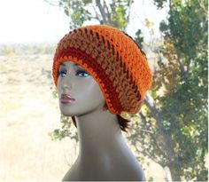 Check out this item in my Etsy shop https://www.etsy.com/listing/486144663/womens-winter-hat-orange-crochet-hat