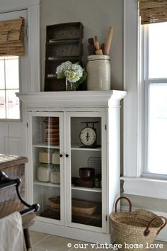 our vintage home love: this cabinet!! would be perfect for my empty kitchen wall