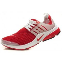 Buy Cheap Men's Nike Air Presto Mesh Running Shoes-White/Red