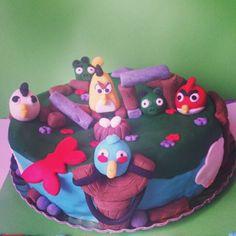 Tarta de los Angry Birds para Iván
