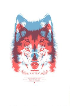"""""""And out come the wolves"""" // Tshirt design by CranioDsgn,"""
