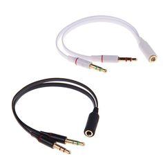 Słuchawki komputerowe Jeden W Dwóch Par Przełącznik Komputera Słuchawki Telefonu Zestaw Słuchawkowy Combo Adapter Kabla 3.5mm przetwornik audio splitter