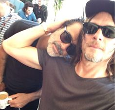 The Walking Dead: Jeffrey Dean Morgan and Norman Reedus at San Diego Comic Con 2016 (SDCC)