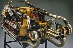 917 engine. Variants of the Type 912 4.5/4.9/5.0-liter DOHC flat-12, 2 valves/cyl., designed by Hans Mezger. The 1973 Can-Am series, the turbocharged version Porsche 917/30 developed 1,100 bhp.