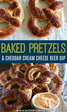 Homemade baked soft pretzels are on the agenda today and I've got a recipe for you that won' Baked Pretzels, Homemade Soft Pretzels, Beer Dip, Baking Soda Bath, Snack Recipes, Snacks, Savoury Recipes, Dessert For Dinner, Pain