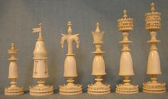 German Ivory Set - White Pieces