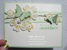 Beautiful Card using Flower Shop and Petite Petals stamp sets – Stampin' Up!® - Stamp Your Art Out! www.stampyourartout.com