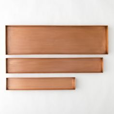 Habit & Form Rectangle Tray, Copper in Garden Trays + Plant Stands at Terrain Copper Planters, Copper Tray, Plant Troughs, Metal Trough, Copper And Grey, Indoor Planters, Garden Planters, Square Tray, Glass