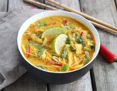 This savory and aromatic take on ramen noodle soup is bursting with the tasty flavors of Thai curry. Ramen Noodle Recipes, Ramen Noodles, Soup Recipes, Chicken Recipes, Curry Ramen, Ramen Soup, Incredible Recipes, Quick Easy Meals, Asian Recipes