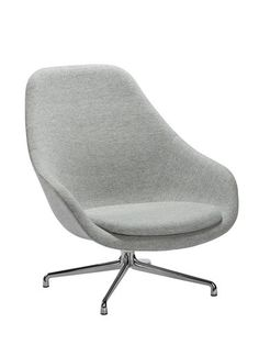 HAY About A Lounge Chair High AAL91 stoel - grijs