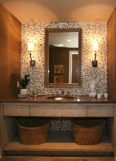 tile wall wall and open vanity