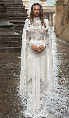 high neck wedding gown heavy embellishment sheath wedding dress #wedding #weddinggowns