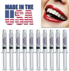 10 syringes of CP Teeth Whitening Gel. Worldwide leader for over 9 years of Teeth Whitening products. 30 years in the dental field. The first manufacturer to introduce and teeth whitening gel to the industry. Coconut Teeth Whitening, Whitening Fluoride Toothpaste, Home Teeth Whitening Kit, Charcoal Teeth Whitening, Natural Teeth Whitening, Teeth Bleaching, Dental, Usa, Beauty Stuff