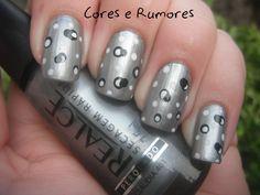 Cores e Rumores: Realce - Cláudia (401) e Nail Art de Bolinhas